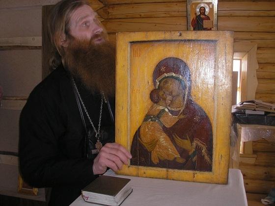 Копия иконы Владимирской, сделанная Евгением